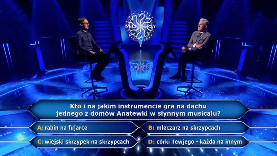 """Pytanie w """"Milionerach"""" za 125 tysięcy złotych o słynny musical"""