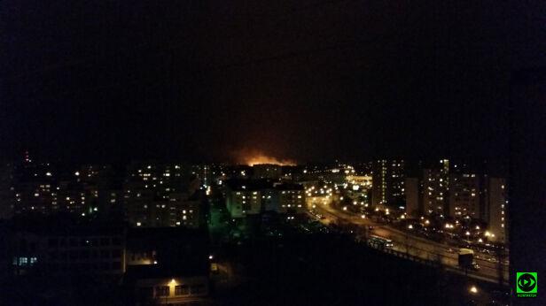 Pożar w Wawrze widziany z Gocławia tormen/Kontakt24