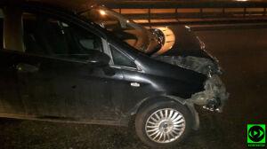 Fiat na barierkach, kierująca w szpitalu
