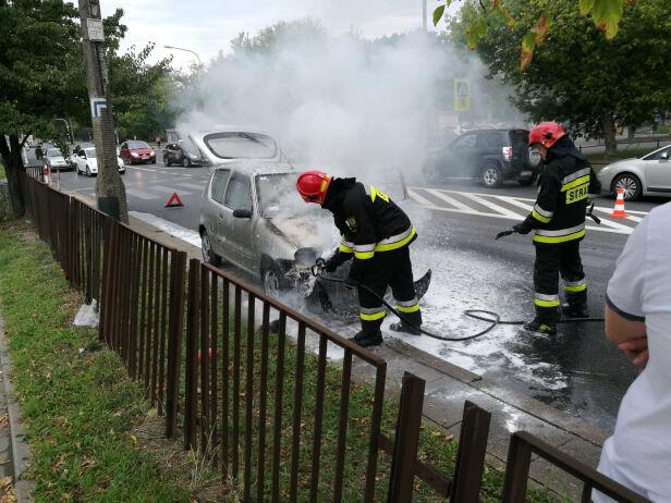 Pożar na ulicy Conrada fotiko / Kontakt 24