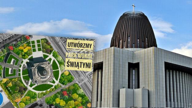 """Mieszkańcy chcą parku wokół świątyni. """"Niemożliwe, to miejsce sakralne"""""""