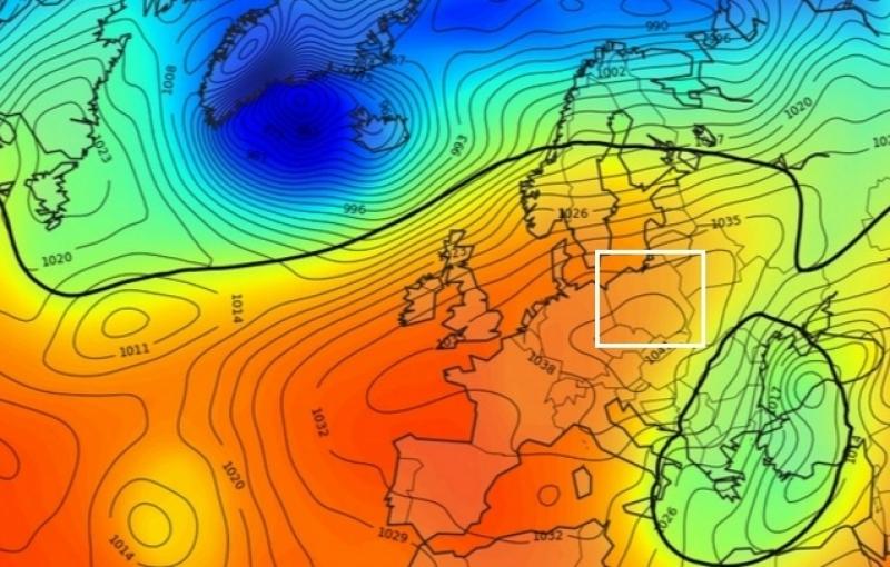 Mapa ciśnienia, prognoza na czwartek 29.12.2016 r. (www.metcheck.com)