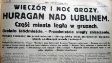 """Trąba powietrzna w Lublinie 20 lipca 1931 r. Artykuł w """"Kurierze Lubelskim"""""""