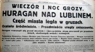 Trąba powietrzna w Lublinie (Narodowe Archiwum Cyfrowe)