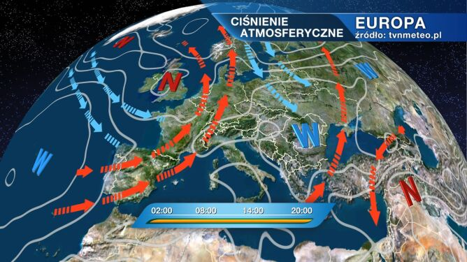 Pogodę w Polsce kształtuje wyż znad Sudetów i Karpat