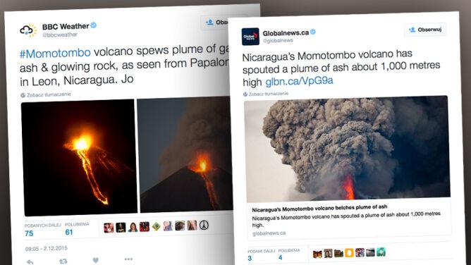 Pierwsza erupcja od 110 lat. <br />Spektakularny wybuch trwał godzinami