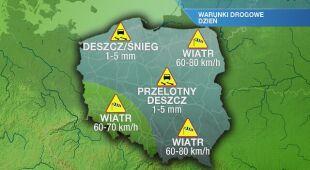 Warunki drogowe we wtorek 29.12