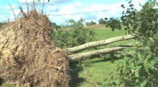 Zniszczenia po burzach na Mazurach